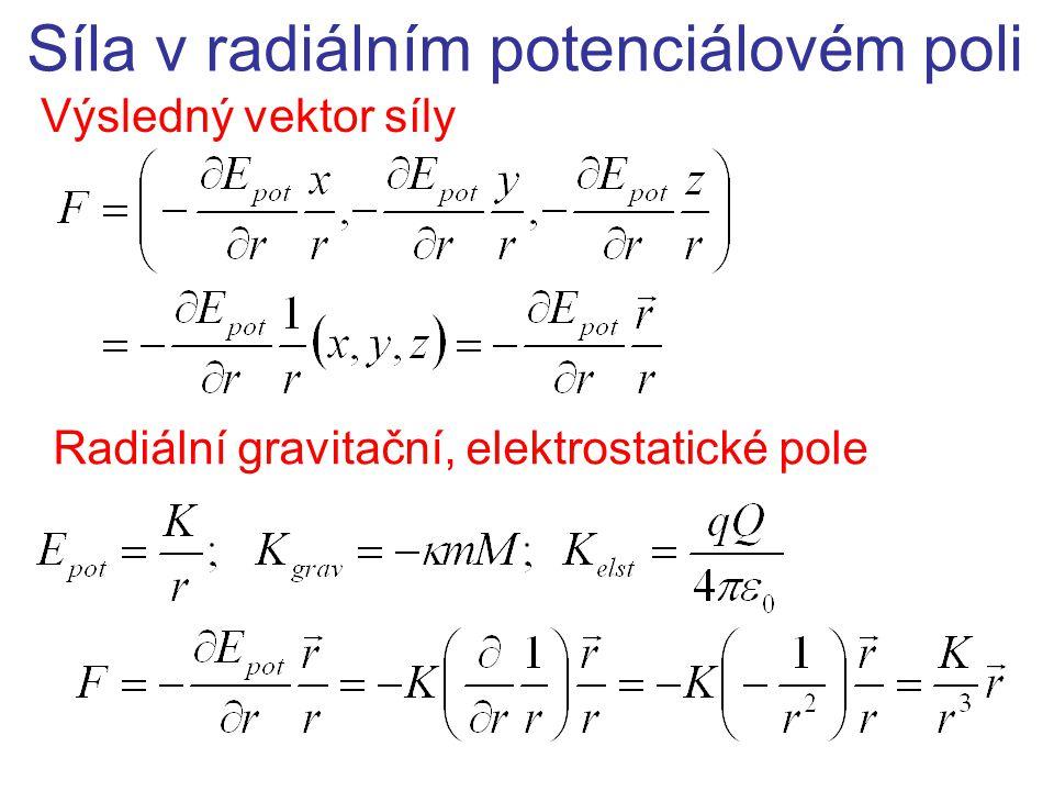 Síla v radiálním potenciálovém poli