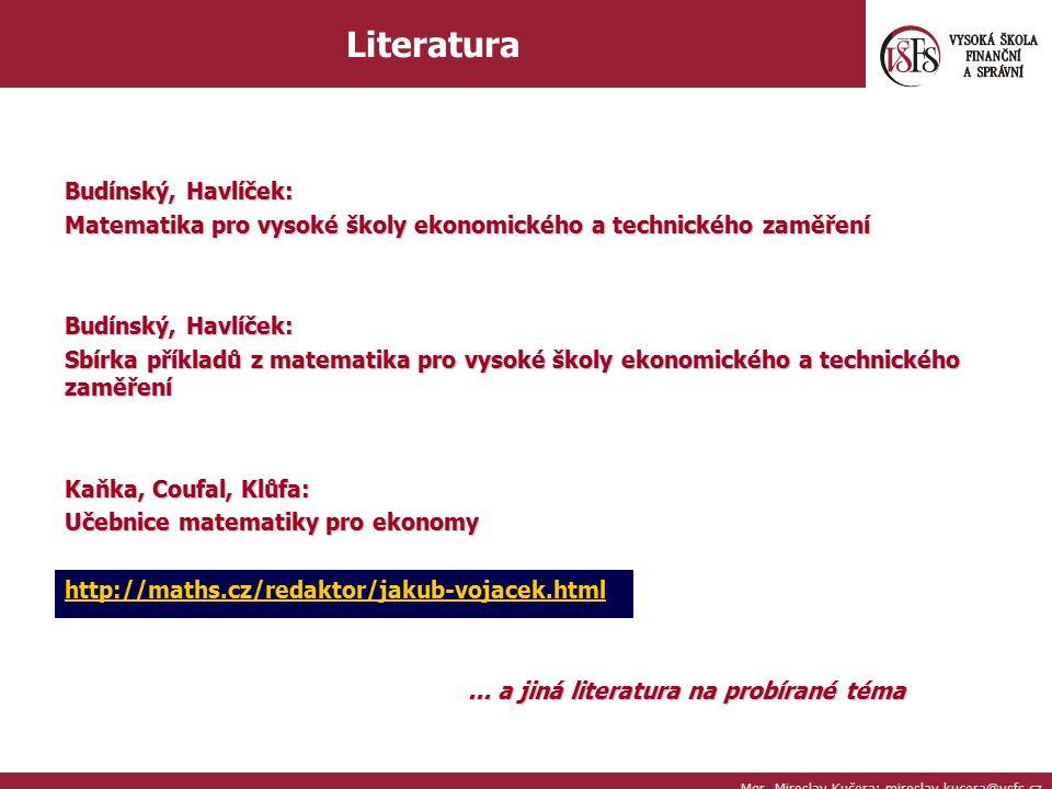Literatura Budínský, Havlíček: