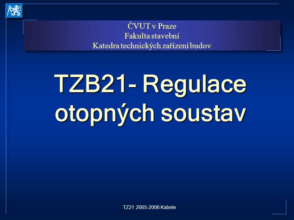 TZB21- Regulace otopných soustav