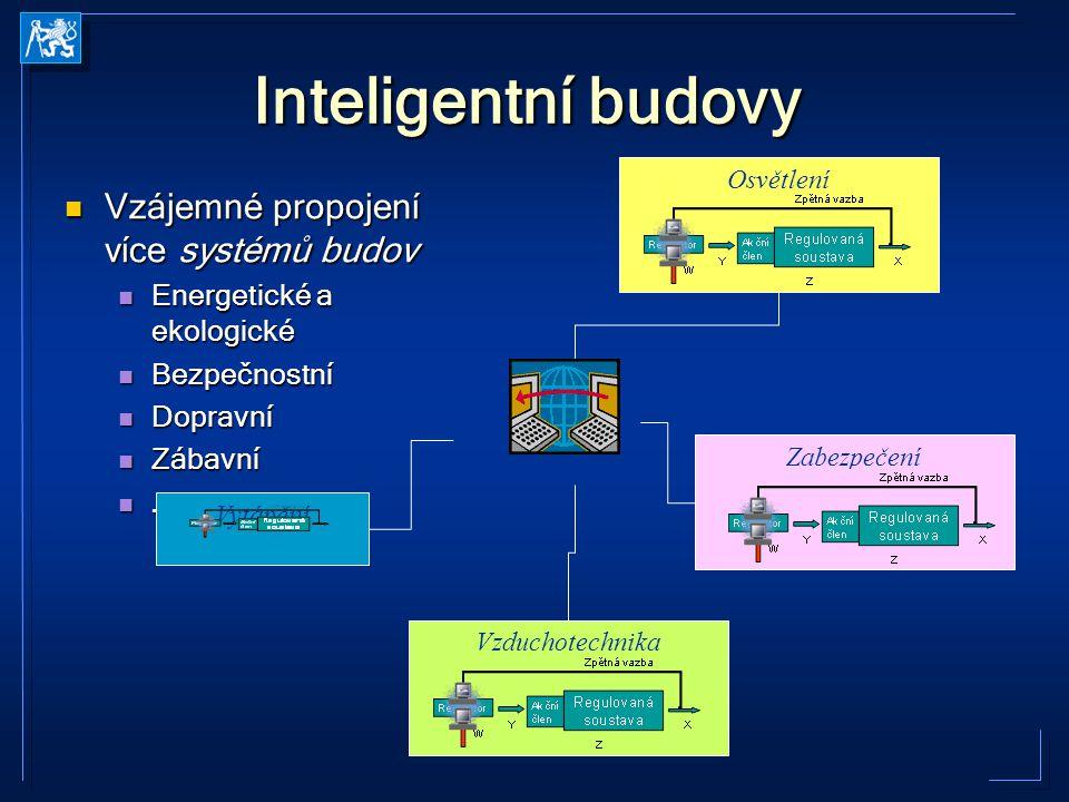 Inteligentní budovy Vzájemné propojení více systémů budov