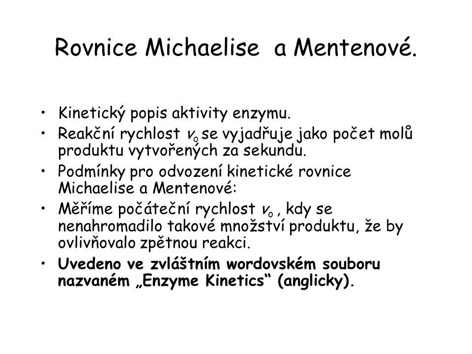 Rovnice Michaelise a Mentenové.