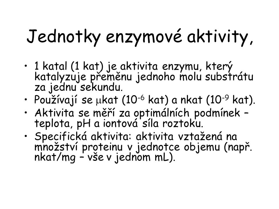 Jednotky enzymové aktivity,