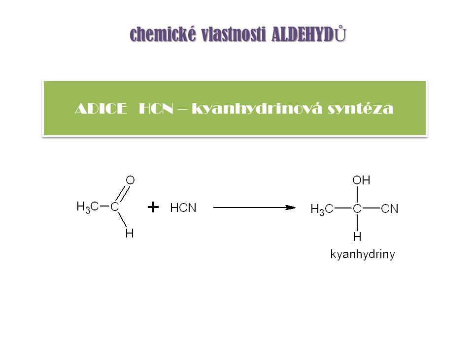 ADICE HCN – kyanhydrinová syntéza