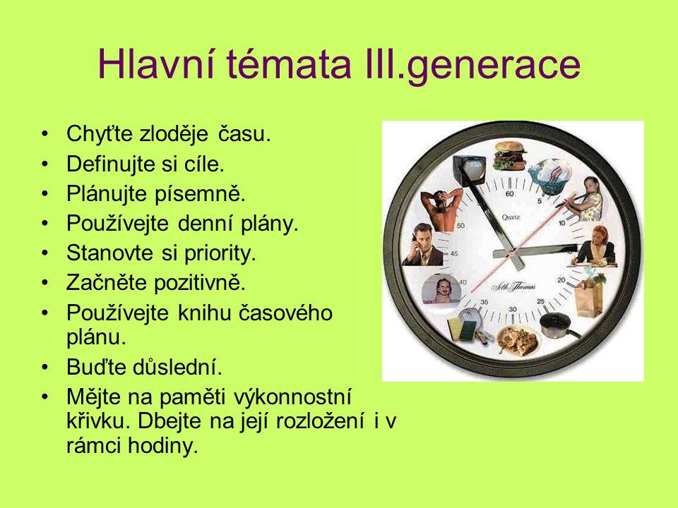 Hlavní témata III.generace