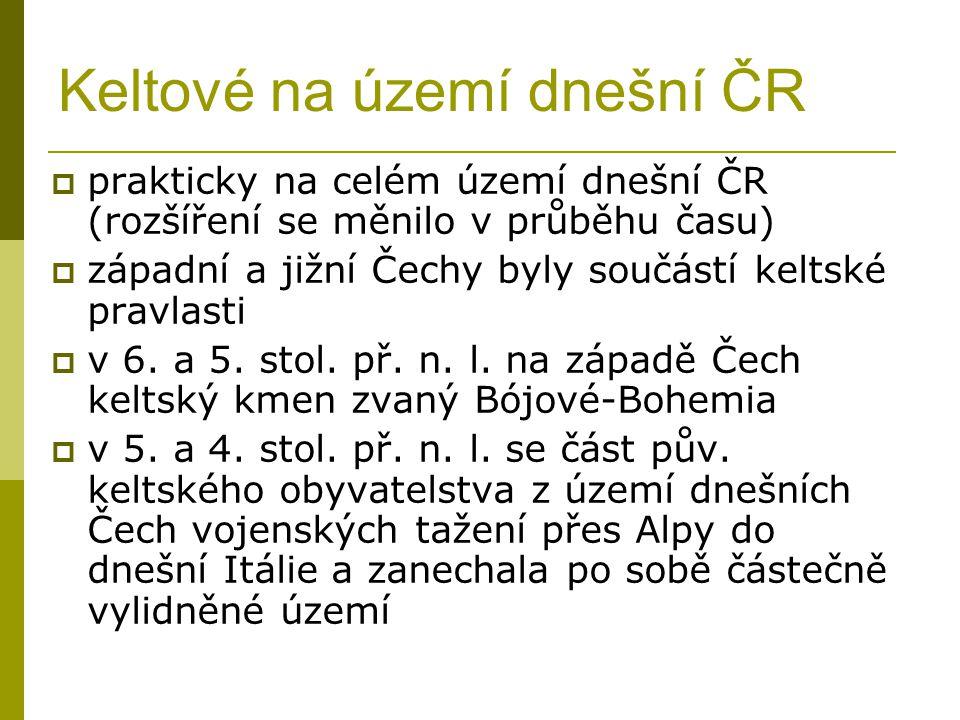 Keltové na území dnešní ČR