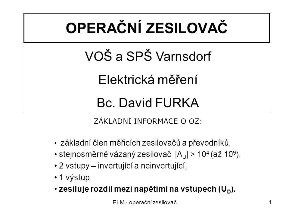 ELM - operační zesilovač