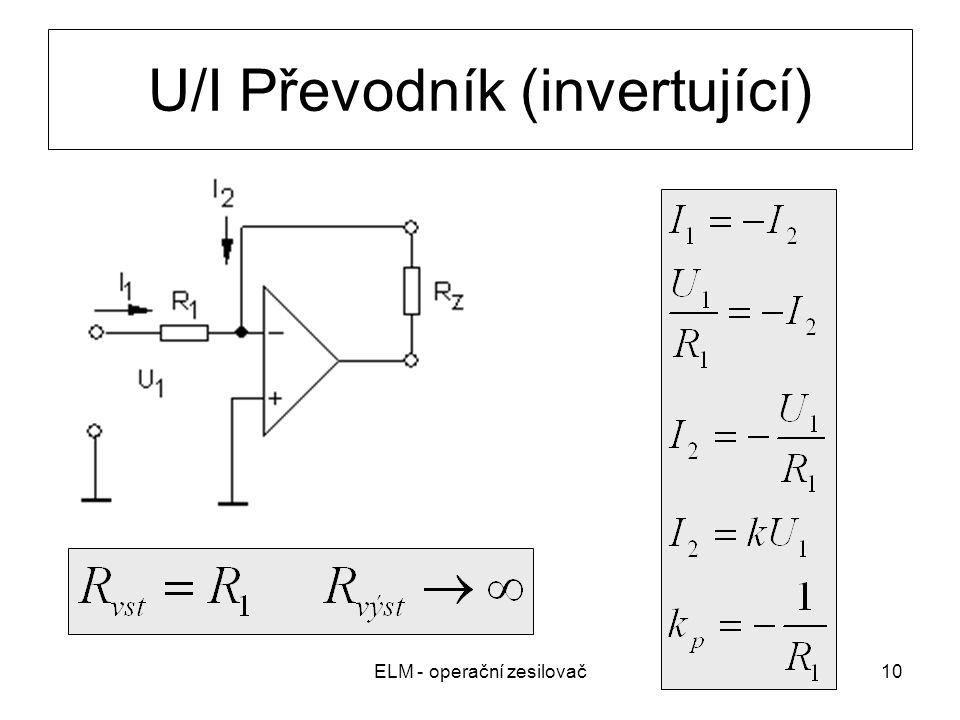U/I Převodník (invertující)