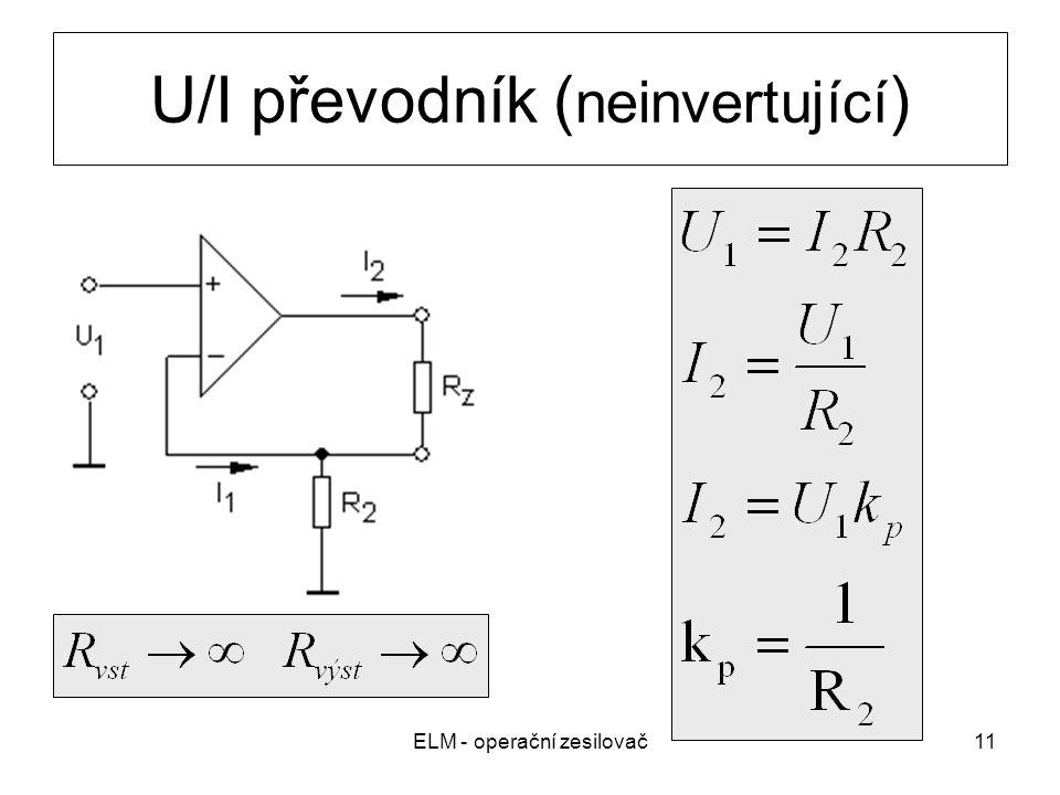 U/I převodník (neinvertující)
