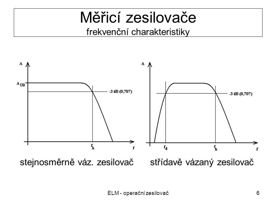 Měřicí zesilovače frekvenční charakteristiky
