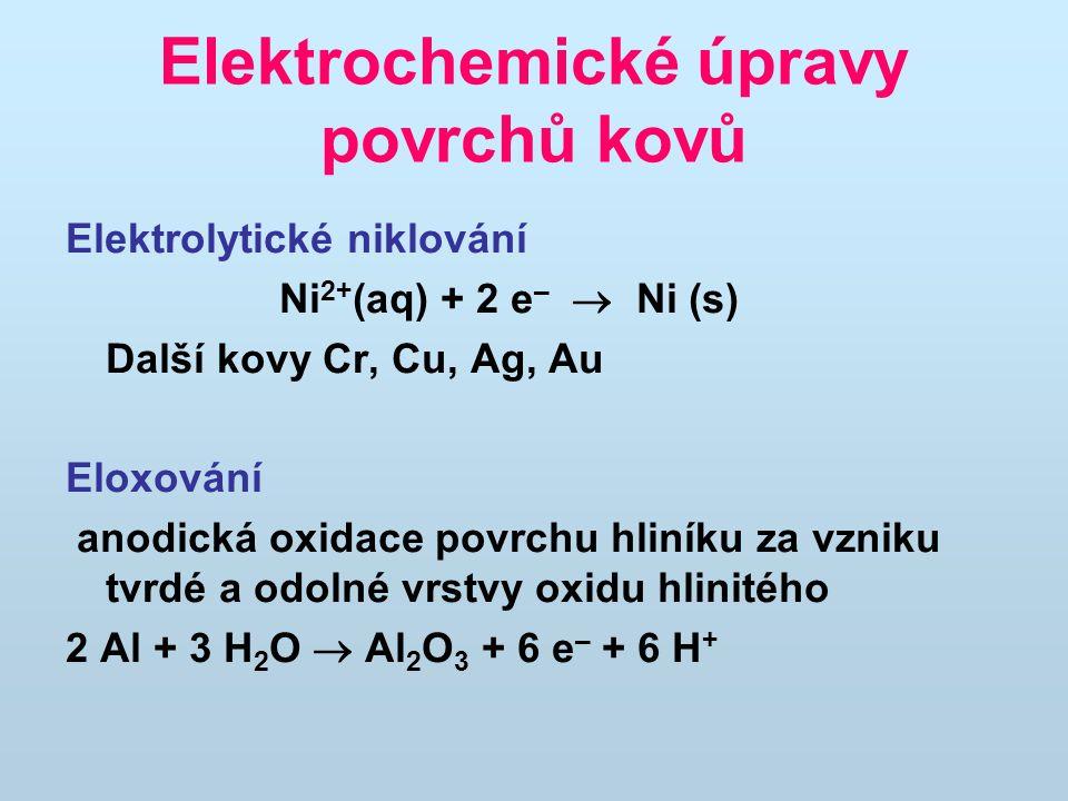 Elektrochemické úpravy povrchů kovů