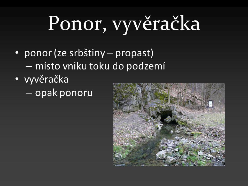 Ponor, vyvěračka ponor (ze srbštiny – propast)