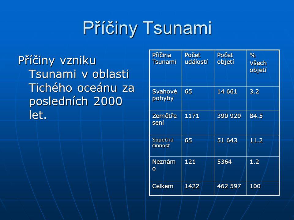 Příčiny Tsunami Příčiny vzniku Tsunami v oblasti Tichého oceánu za posledních 2000 let. Příčina Tsunami.