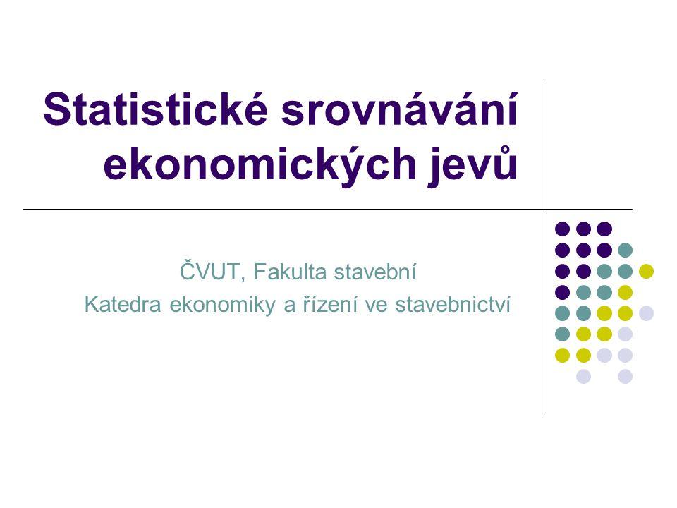 Statistické srovnávání ekonomických jevů