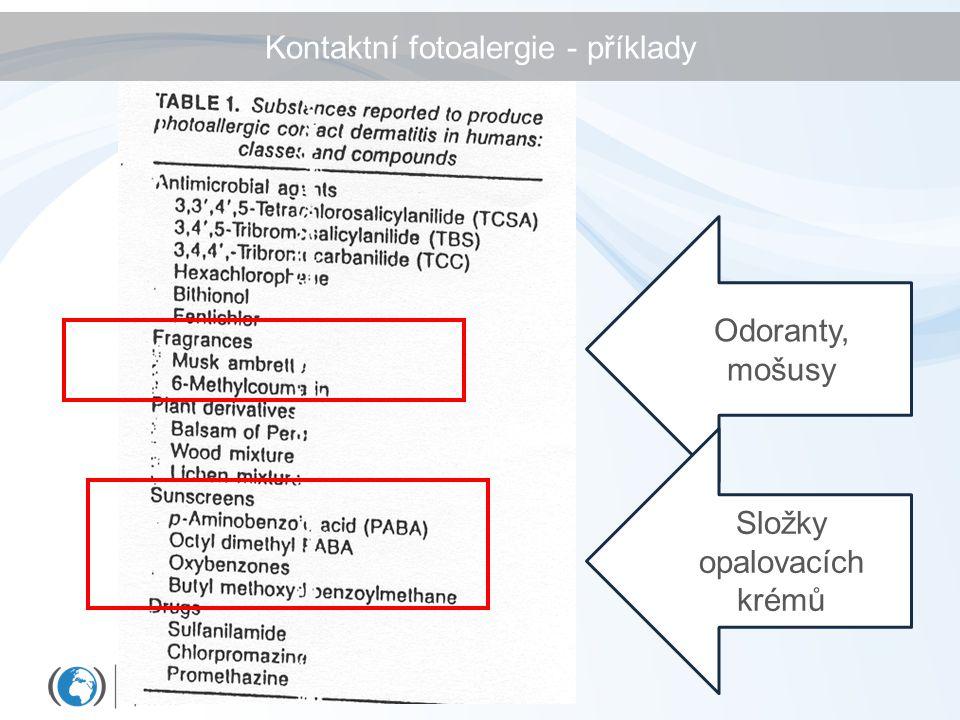 Kontaktní fotoalergie - příklady