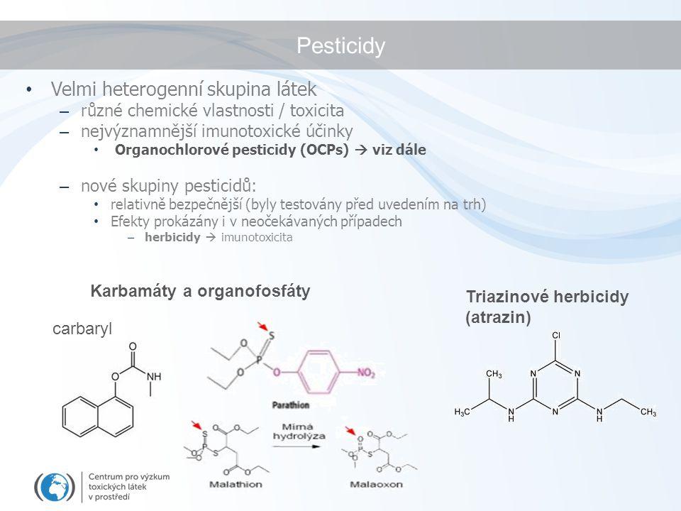 Pesticidy Velmi heterogenní skupina látek