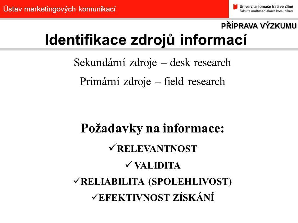 Identifikace zdrojů informací