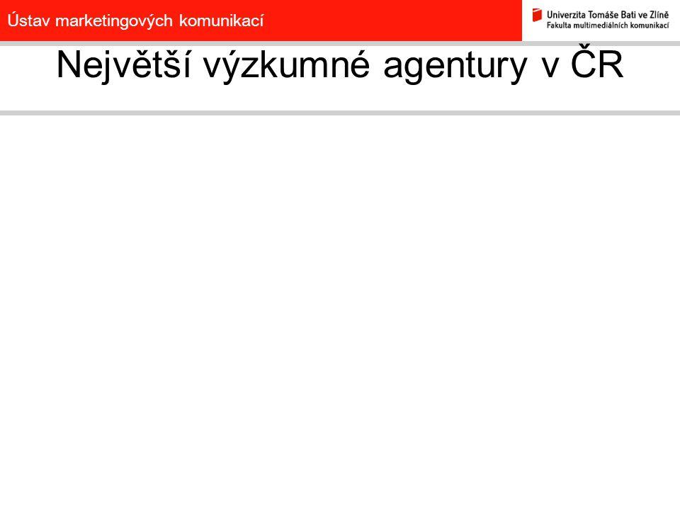 Největší výzkumné agentury v ČR