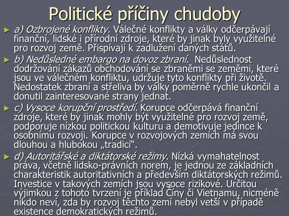 Politické příčiny chudoby