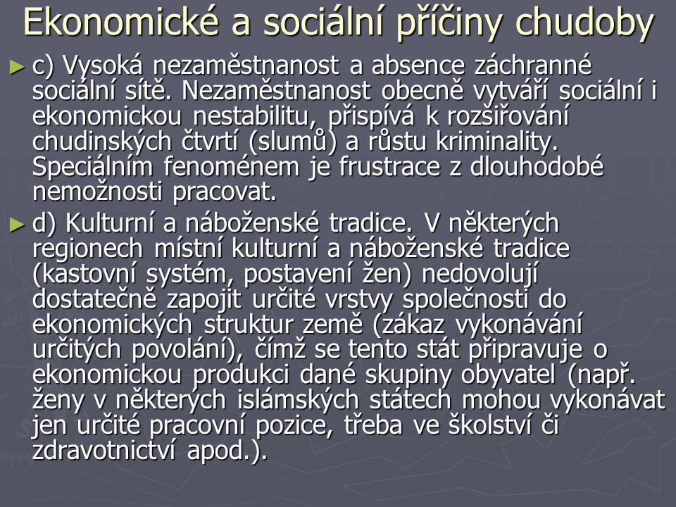 Ekonomické a sociální příčiny chudoby
