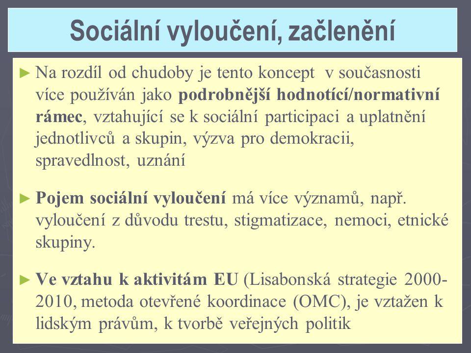 Sociální vyloučení, začlenění