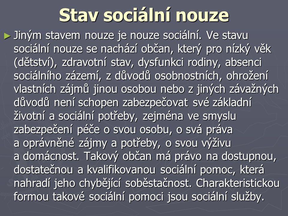 Stav sociální nouze