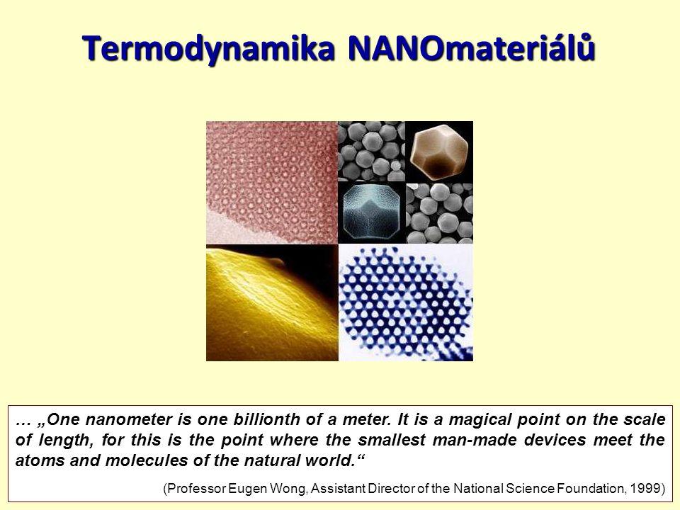 Termodynamika NANOmateriálů