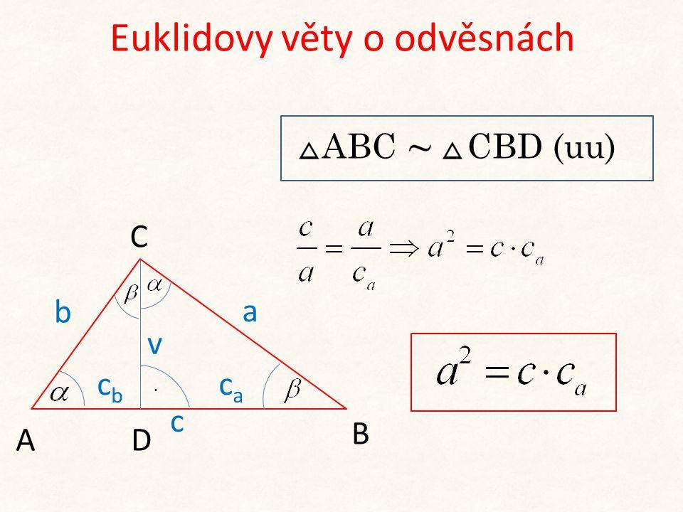 Euklidovy věty o odvěsnách