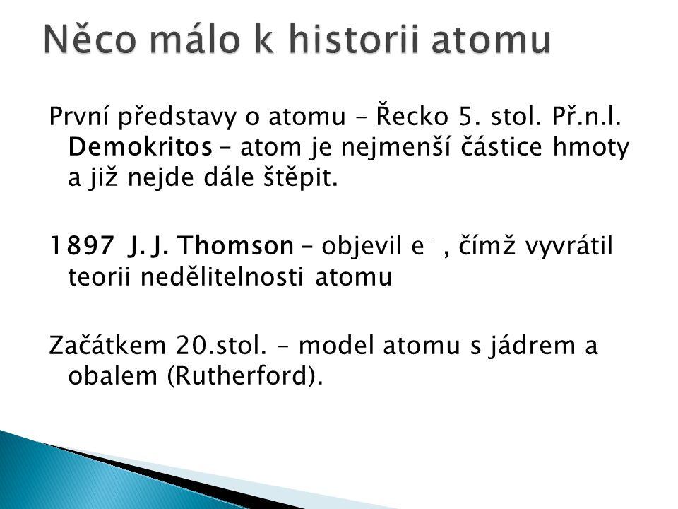 Něco málo k historii atomu
