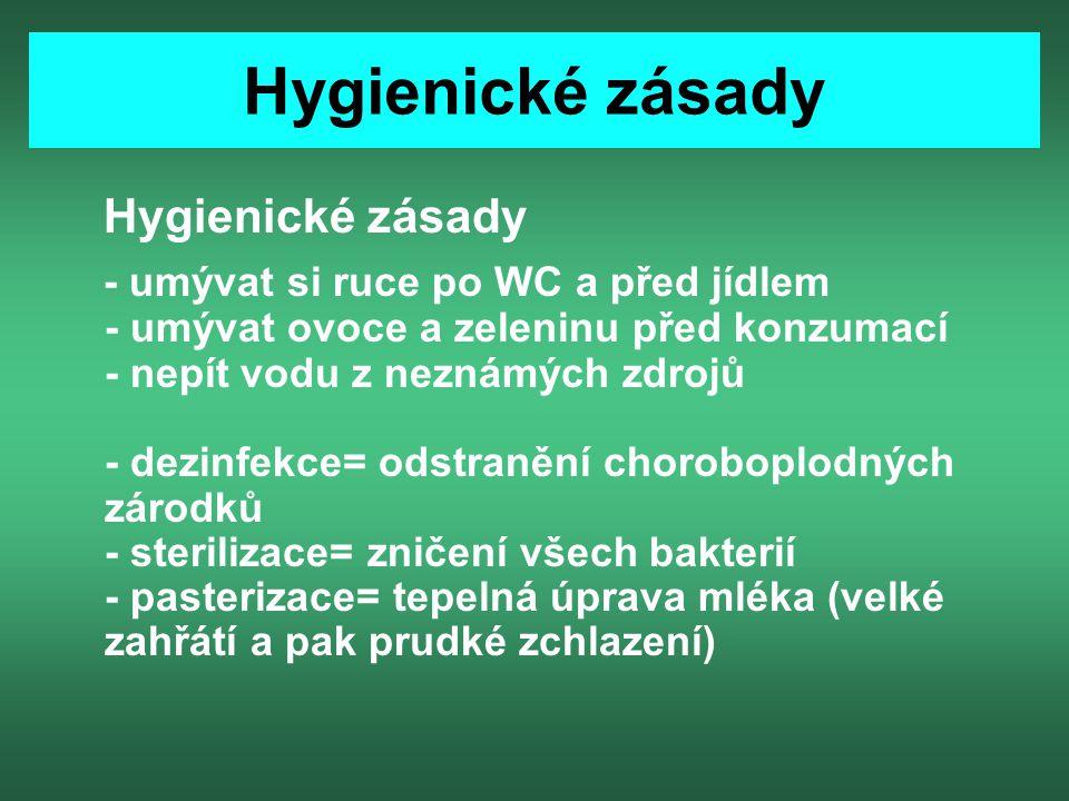Hygienické zásady Hygienické zásady