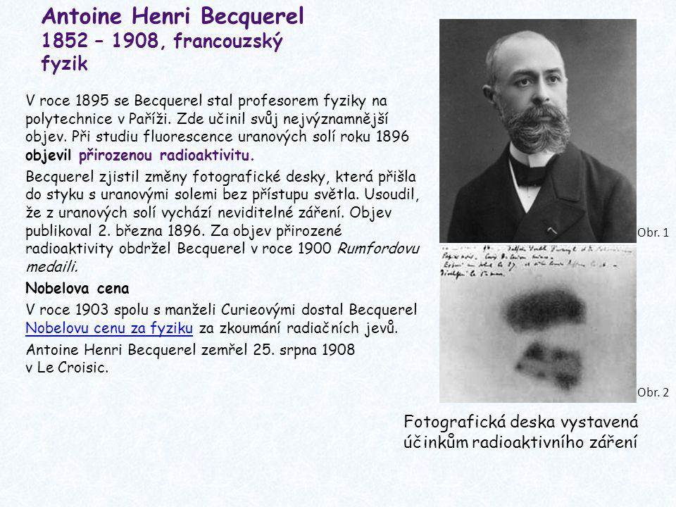 Antoine Henri Becquerel 1852 – 1908, francouzský fyzik