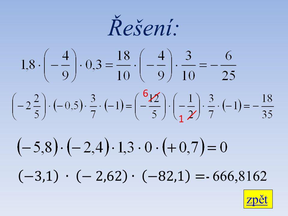 Řešení: 6 1 - zpět