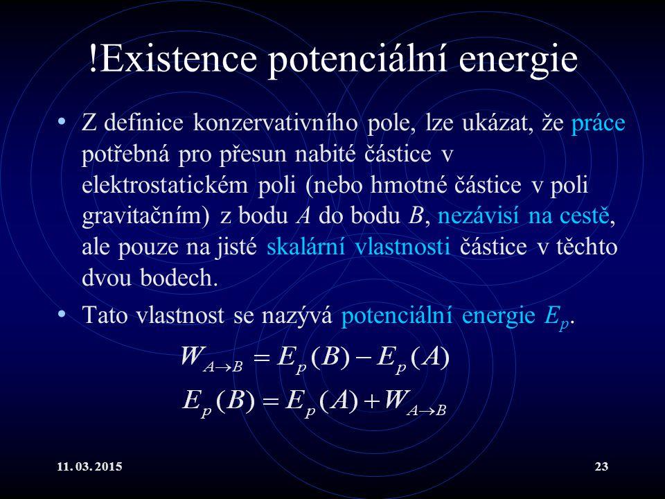 !Existence potenciální energie