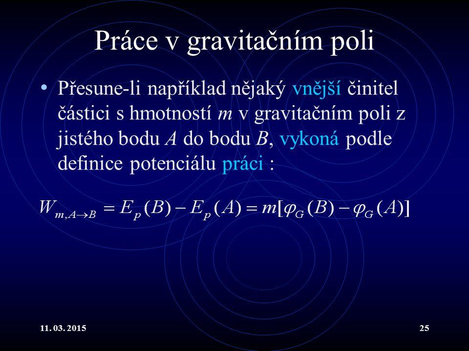 Práce v gravitačním poli