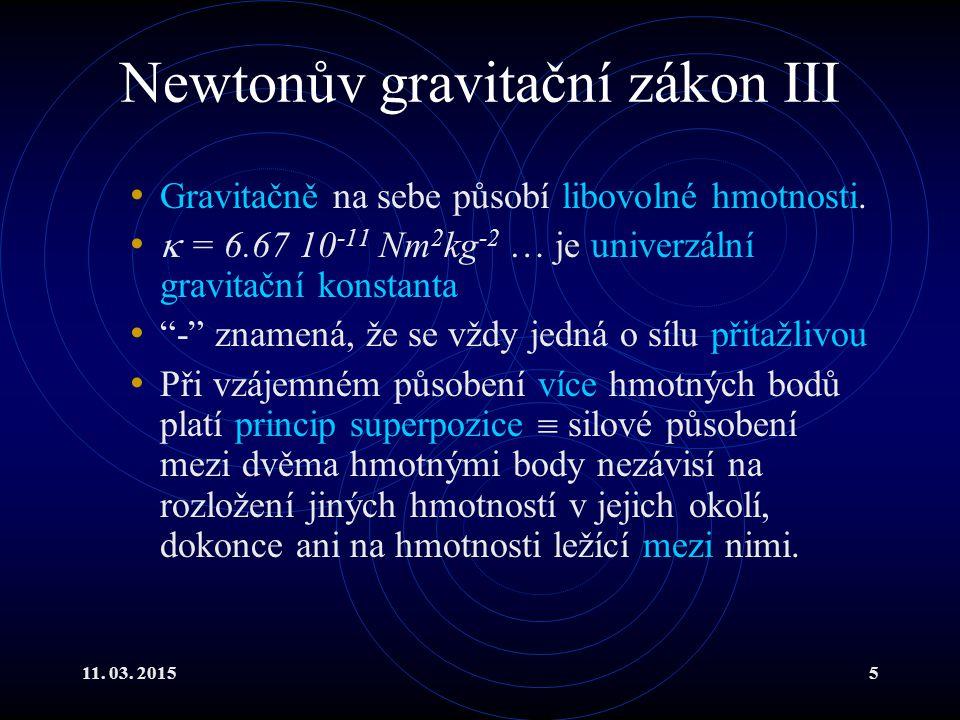 Newtonův gravitační zákon III