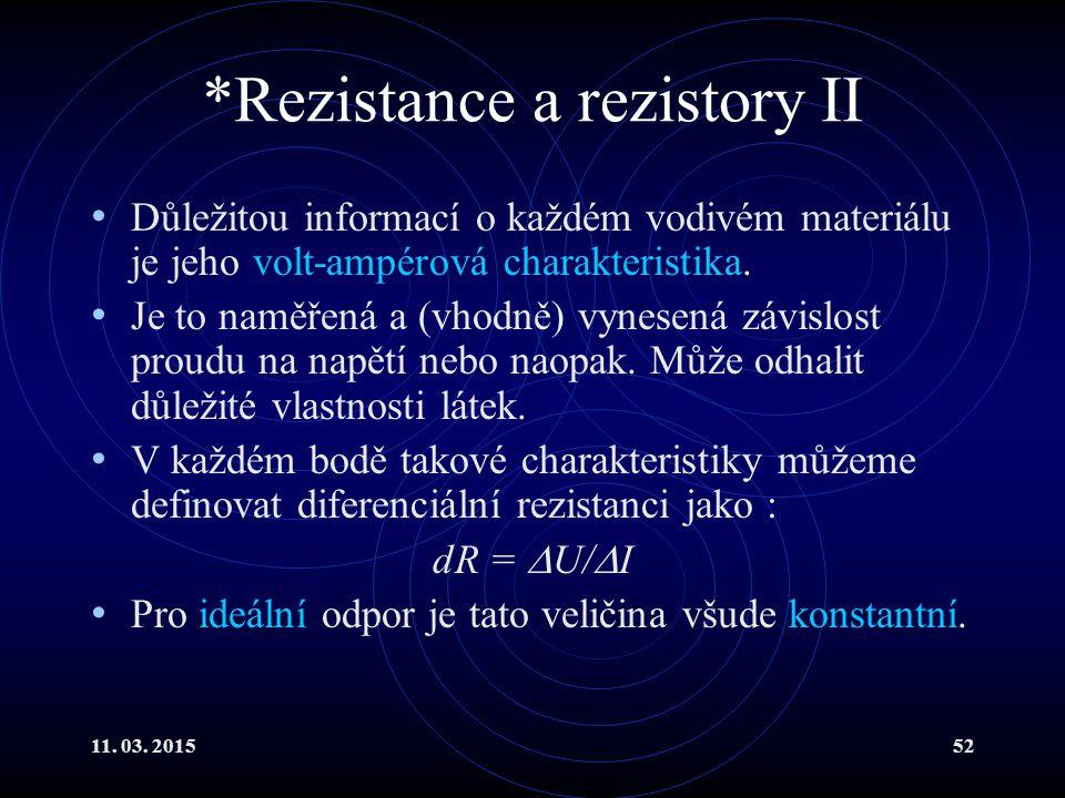 *Rezistance a rezistory II