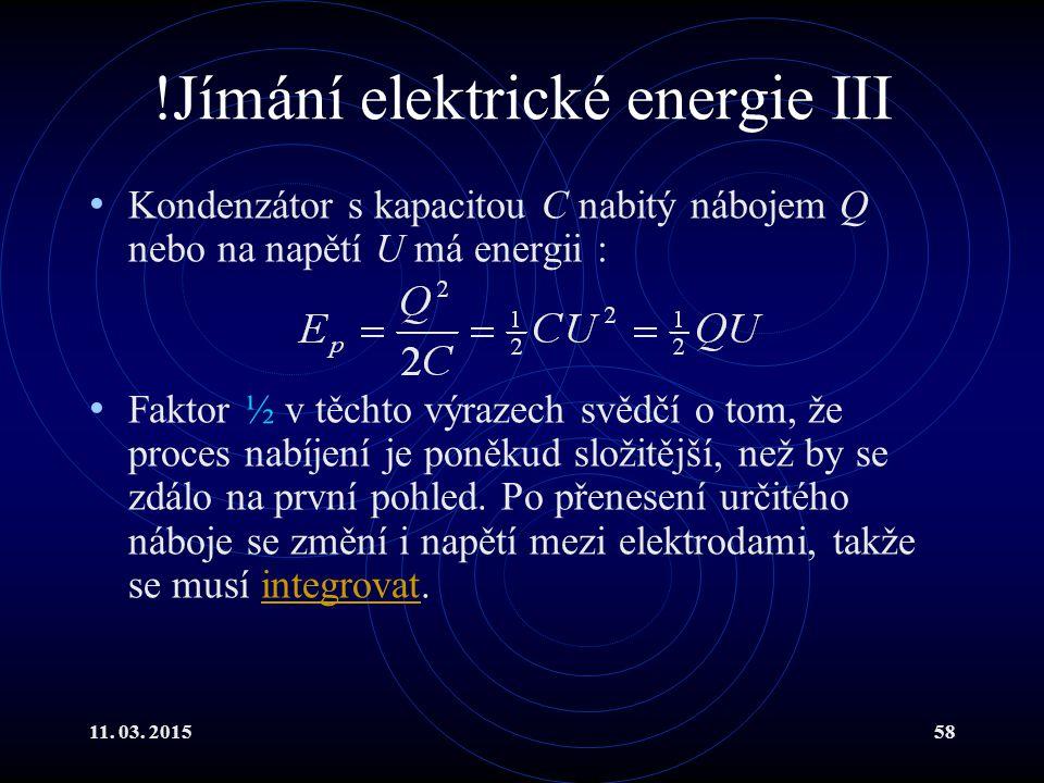 !Jímání elektrické energie III