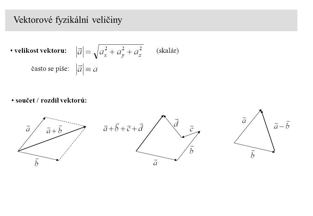 Vektorové fyzikální veličiny