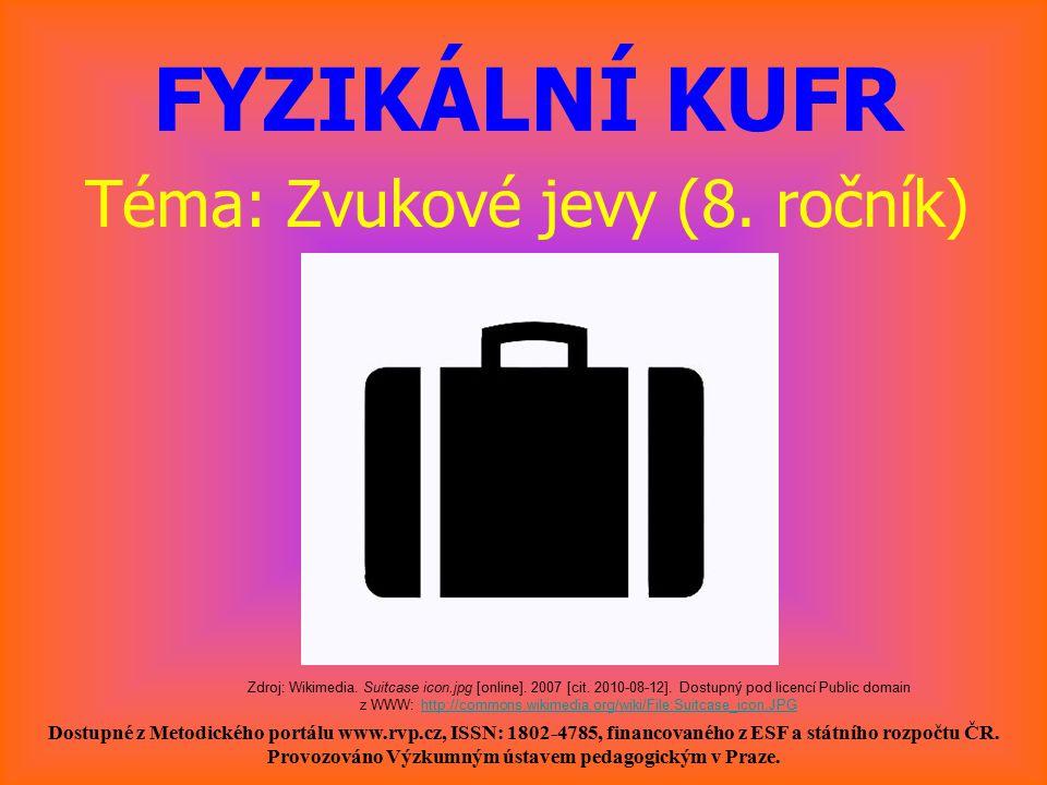 FYZIKÁLNÍ KUFR Téma: Zvukové jevy (8. ročník)