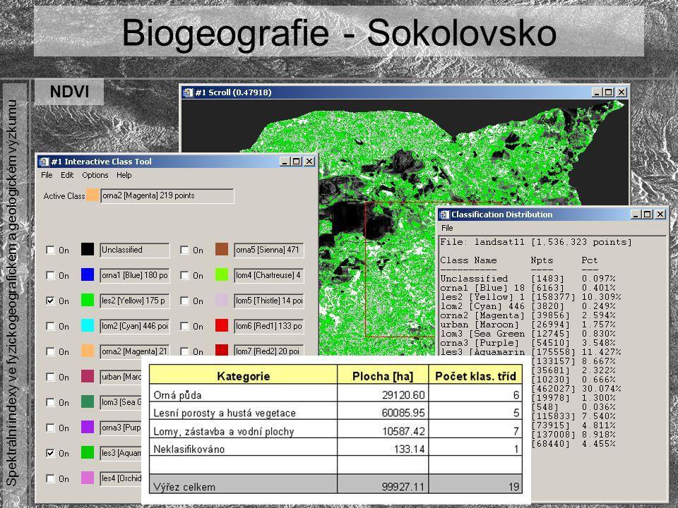 Biogeografie - Sokolovsko