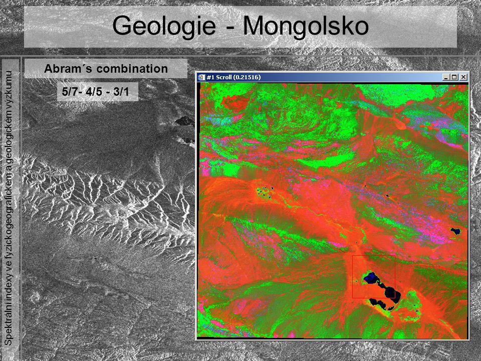 Geologie - Mongolsko Abram´s combination 5/7- 4/5 - 3/1