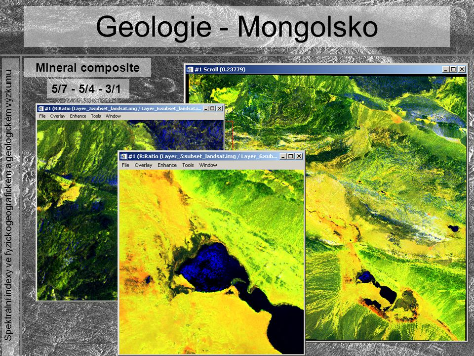 Geologie - Mongolsko Mineral composite 5/7 - 5/4 - 3/1