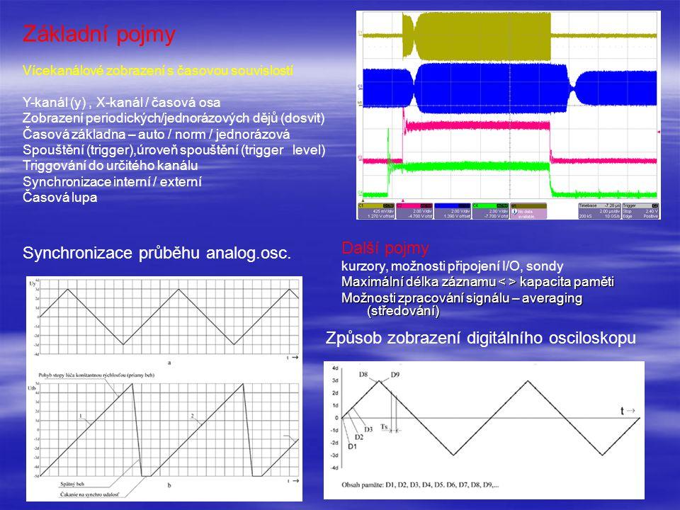 Základní pojmy Další pojmy Synchronizace průběhu analog.osc.