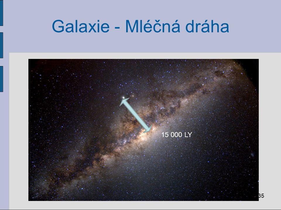 Galaxie - Mléčná dráha 15 000 LY