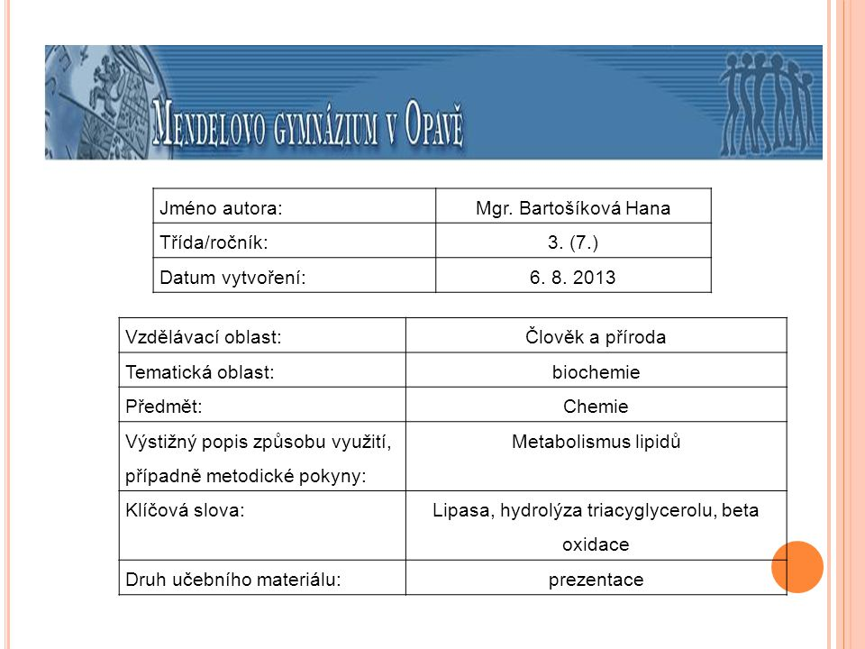 Lipasa, hydrolýza triacyglycerolu, beta oxidace