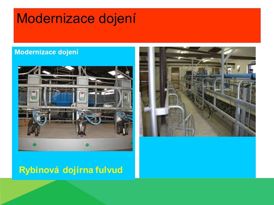 Modernizace dojení Modernizace dojení Rybinová dojírna fulvud