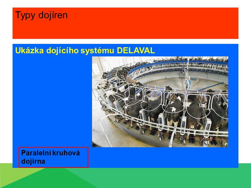 Typy dojíren Ukázka dojícího systému DELAVAL Paralelní kruhová dojírna