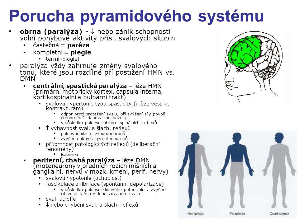 Porucha pyramidového systému