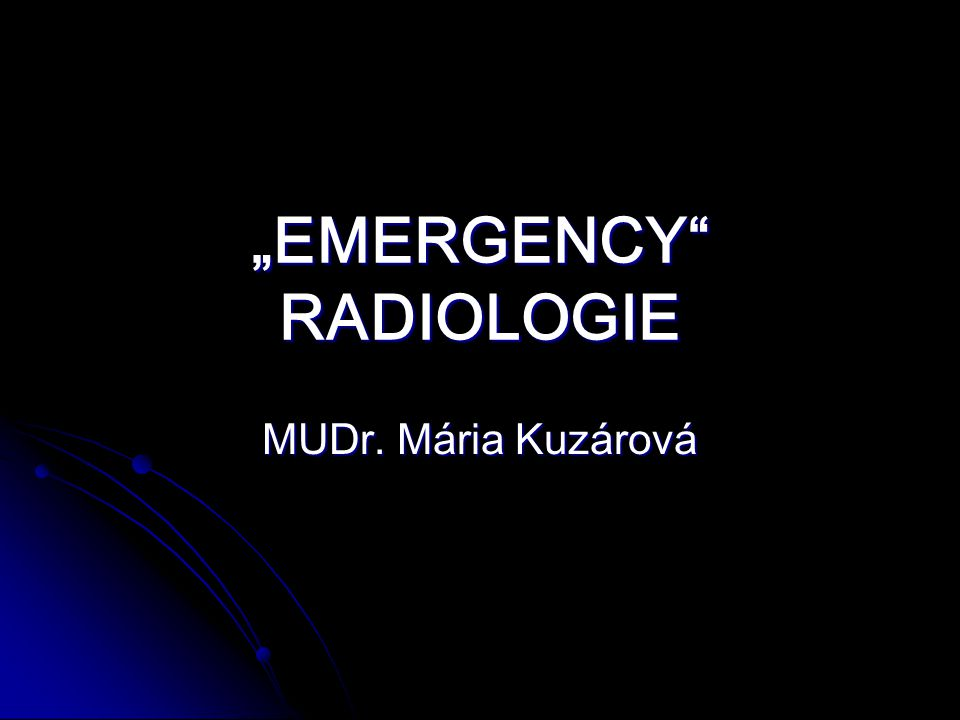 """EMERGENCY RADIOLOGIE"