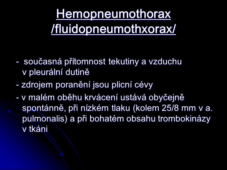Hemopneumothorax /fluidopneumothxorax/