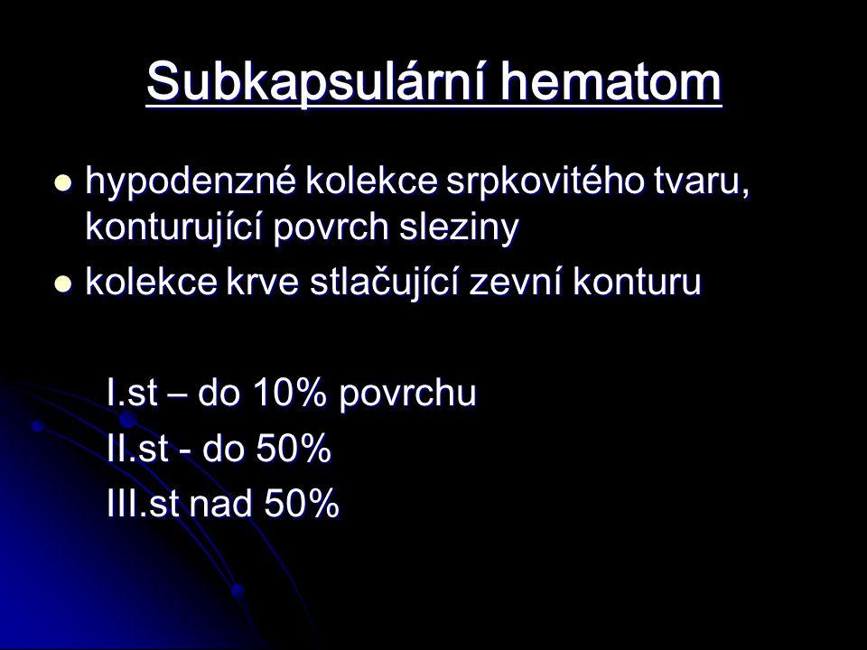 Subkapsulární hematom